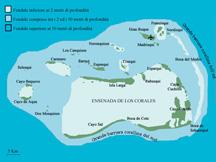 Los Roques mappa dell'arcipelago